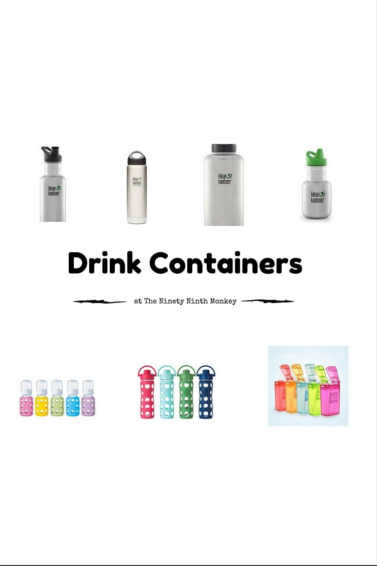 Reusable drink containers-BPA free.