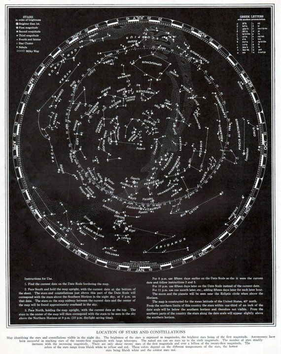 astronomy star charts constellations - 570×717