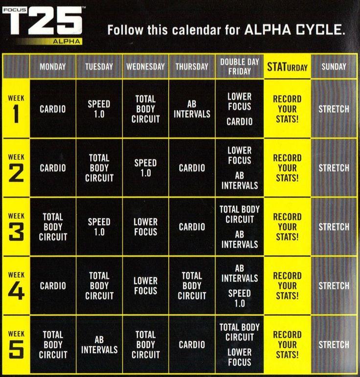 Workout Calendar T25 : Ideas about t schedule on pinterest workout