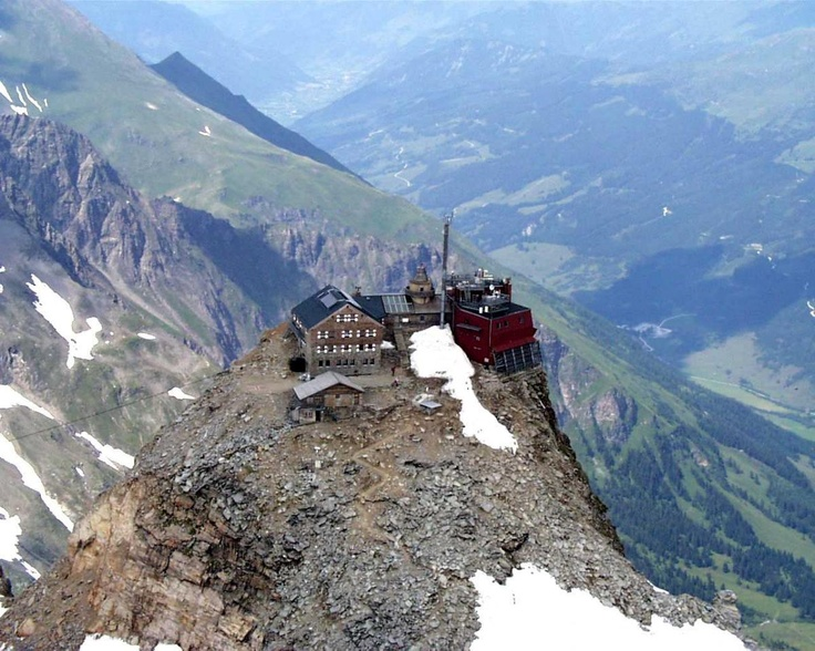#Zittelhaus at the top of Hoher Sonnblick in the Salzburg mountains, Austria