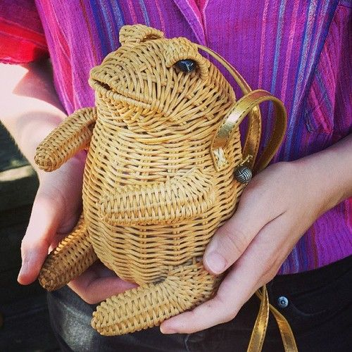 A Toad-ally nice find. #thrifted#purse#toads#wicker - @libby_hays