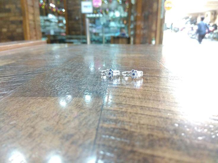 Toe rings made in silver  WhatsApp 9272130130  www.facebook.com/silverjewelleryhut  Instagram username-silverjewelleryhut