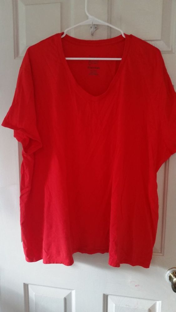 d332521473df9 JMS Just My Size Women s Plus Size 5X Casual Tee Shirt Red Short Sleeve   fashion  clothing  shoes  accessories  womensclothing  tops (ebay link)