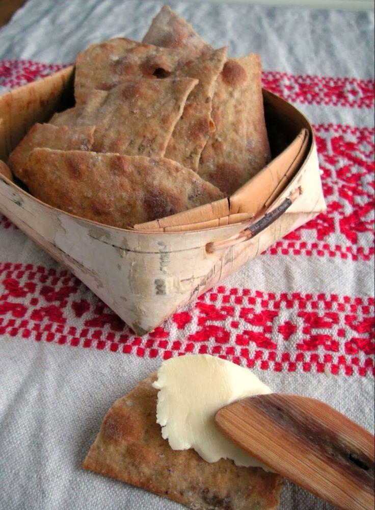 Herkkusuun lautasella-Ruokablogi: ohuen ohutta näkkileipää