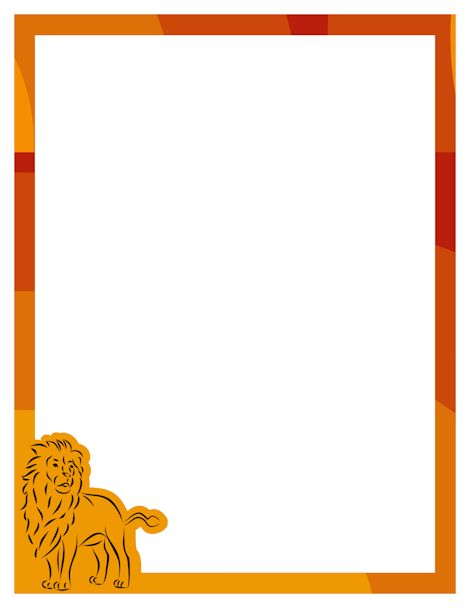 Lion page border. Free downloads at