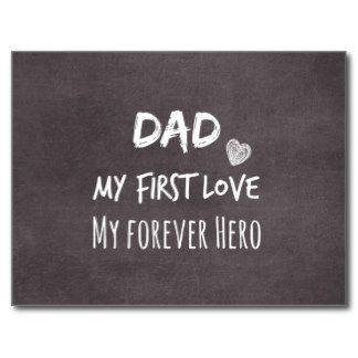 Citation de papa et de fille : Première passion, Cartes Postales