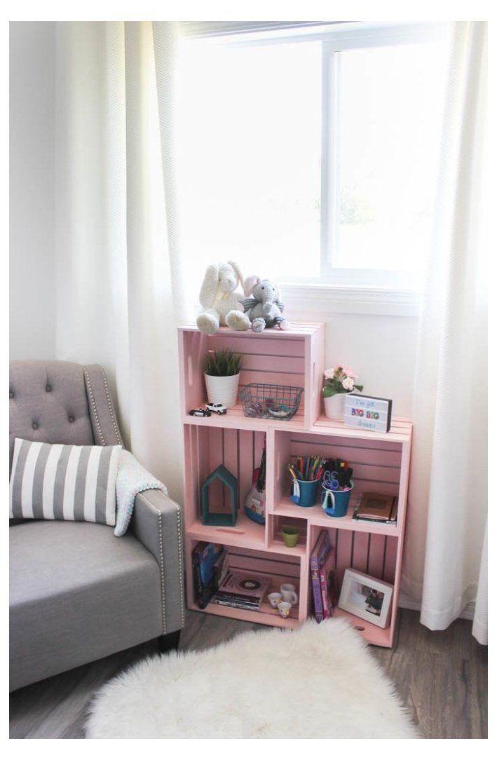 Diy Crate Bookshelf Wooden Crate Ideas Home Decor Bedroom Woodencrateideashomedecorbedroom Wow Amaz Crate Bookshelf Bookshelves Diy Painted Bookshelves