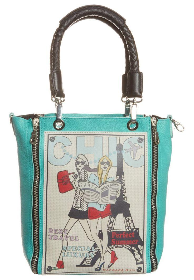 Barbara Rihl  BEST FRIEND & PARIS - Tote bag - turquoise