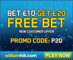 William Hill Free £20 Bet