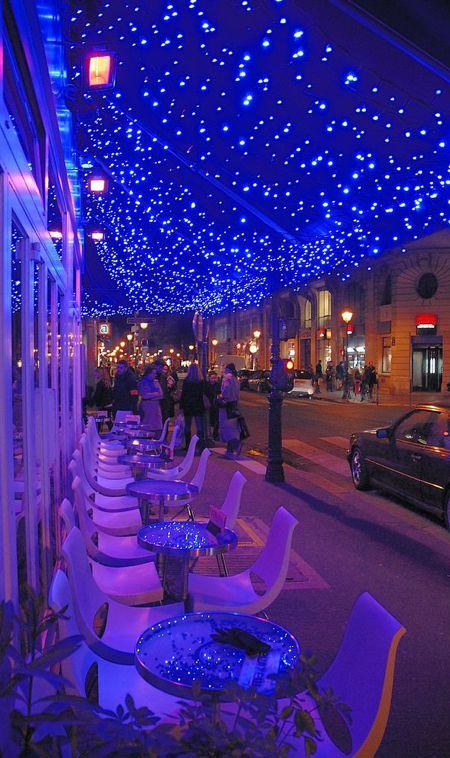 'Cafe Le Marais' by night ~ Paris, France