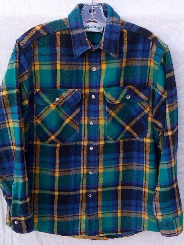 Vintage Gander Mountain Heavyweight Cotton Flannel L  Tag #VintageGanderMountain #VintageFlannel