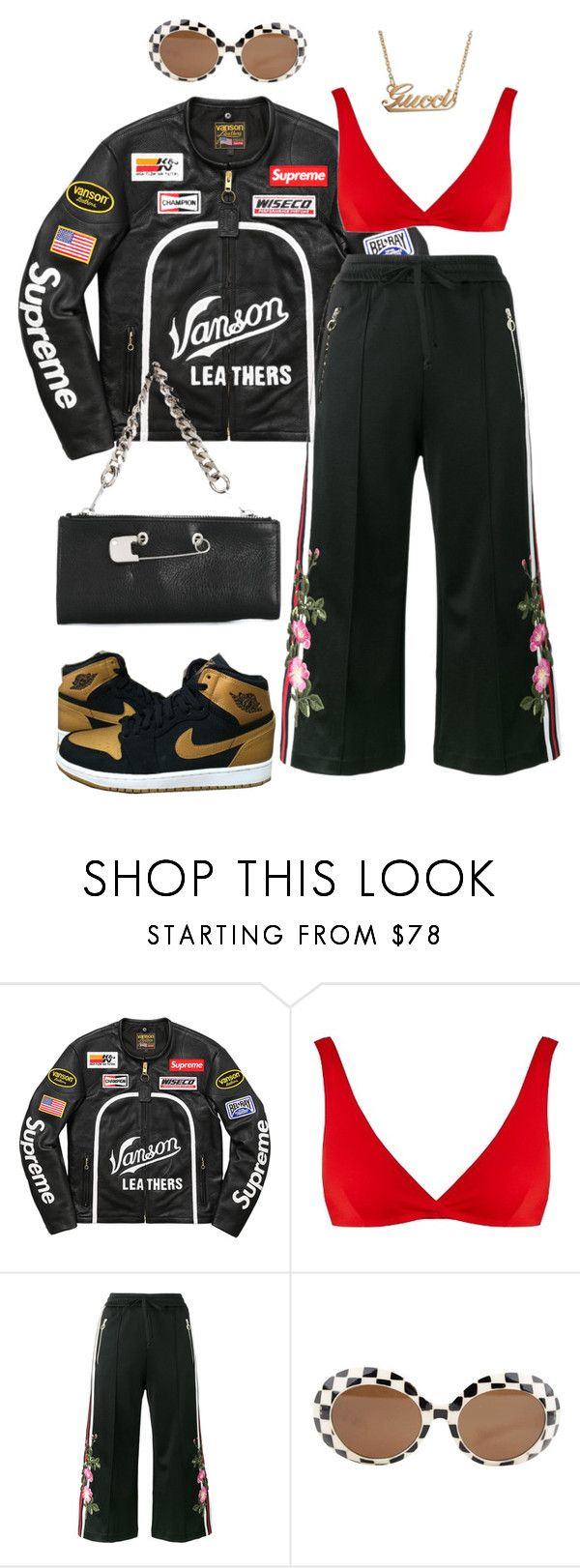 """Sans titre #609"" by a4styled ❤ liked on Polyvore featuring Vanson, Solid & Striped, Gucci and Sonia by Sonia Rykiel"