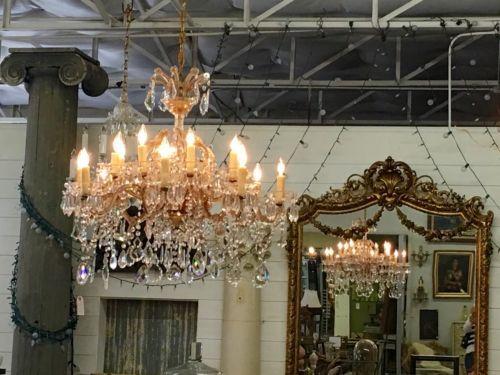 Six Arm Maria Teresa Chandelier 3895 Country Garden Antiques 147 Parkhouse Dallas Tx 75207 Read
