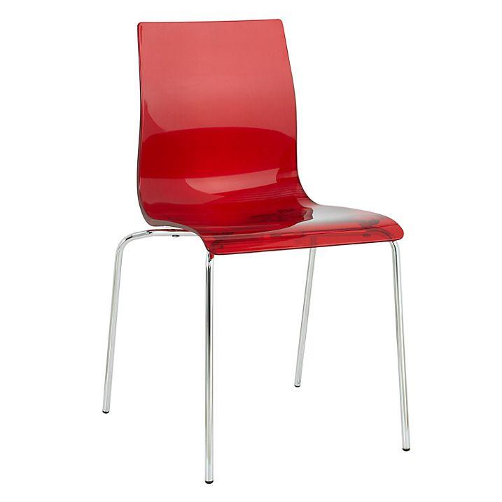 Buy John Lewis Gel Dining Chair, Red Online at johnlewis.com