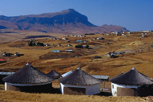 Xhosa village in the Transkei region, South Africa.