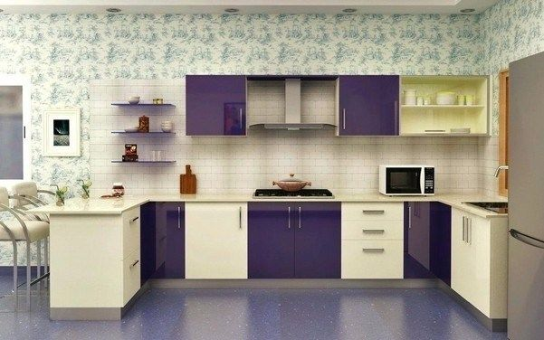 10 Sweet Purple Kitchen Ideas A Really Very Charming Design Kitchen Laminate Color Kitchen Colour Combination Modular Kitchen Design Kitchen room colour combination kitchen
