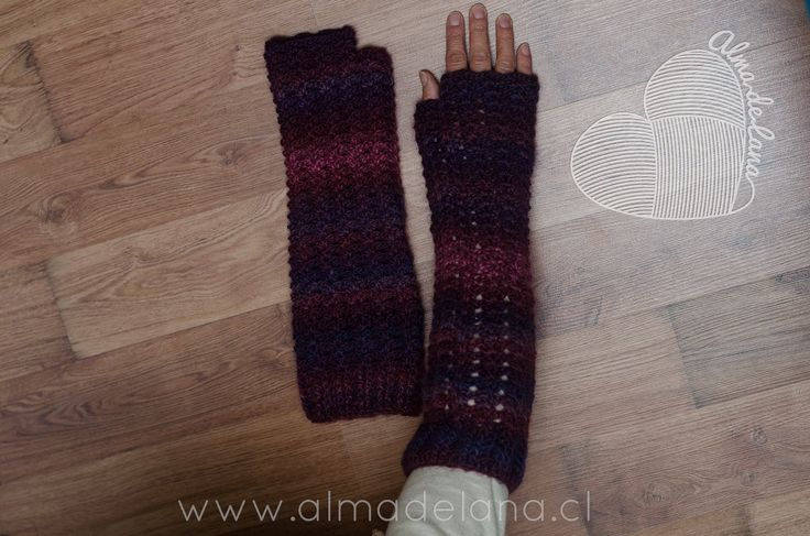 #guantes largos #almadelana #handmade
