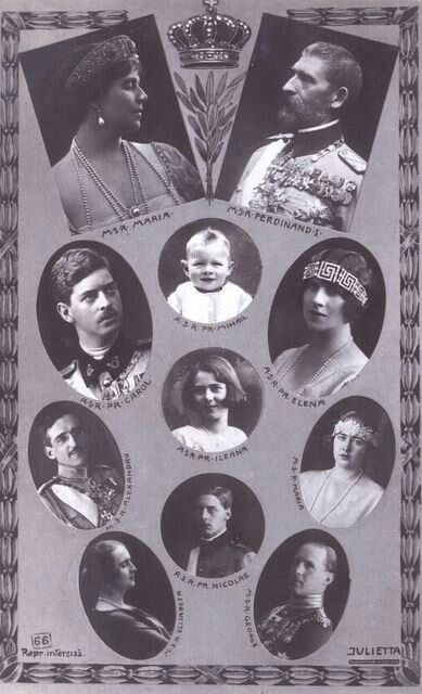 Family of King Ferdinand and Queen Marie of Romania (of Edinburgh).