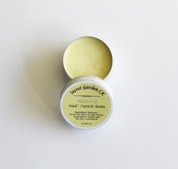 All Natural Nail whitening Cuticle Balm  Nailed by SecretGardenCK