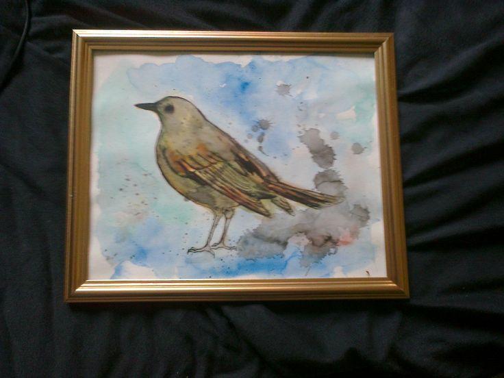 #bird in #watercolour