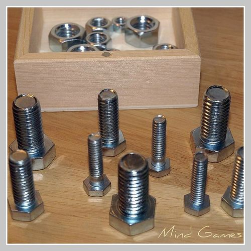 Nuts and Bolts fine motor activity