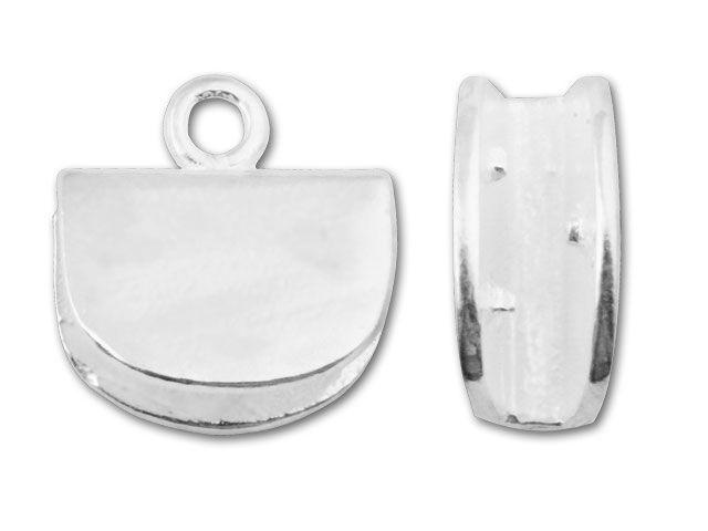 Sterling Silver U-Shape 10mm Ribbon End