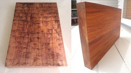 Rimu Chopping Board Solid square edged chopping board with dual finish. Rustic burnished serving finish on one side, and smooth dressed finish other side. Boards made from Rimu and finished in food safe New Zealand manuka beeswax and oil.  Available in 3 Sizes