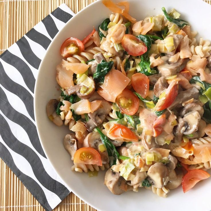Healthy Living in Heels: Zomerse Romige Zalm Pasta