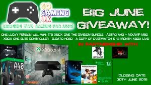 1 person will win the following: 1TB Xbox One The Division Edition, Astro A40 + Mixamp M80, Xbox Elite Controller, Elgato HD60, a copy of Overwatch and 12 months Xbox Live Gold