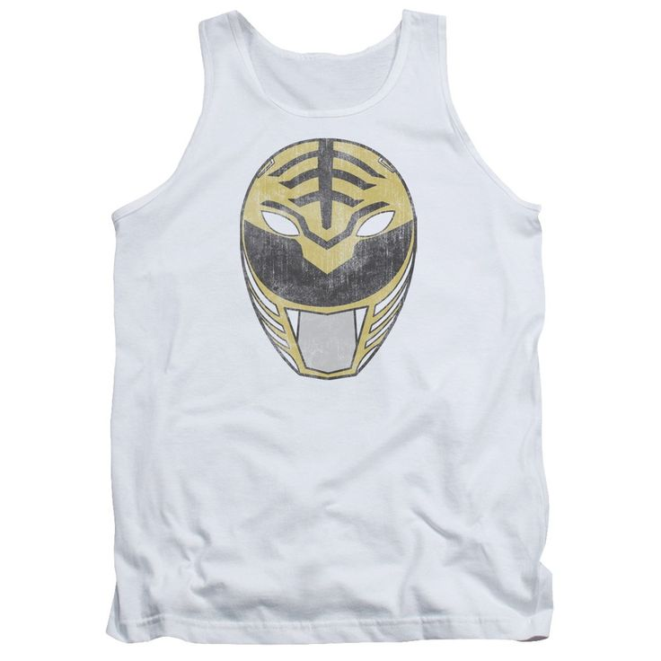 """Checkout our #LicensedGear products FREE SHIPPING + 10% OFF Coupon Code """"Official"""" Power Rangers / White Ranger Mask-adult Tank - Power Rangers / White Ranger Mask-adult Tank - Price: $29.99. Buy now at https://officiallylicensedgear.com/power-rangers-white-ranger-mask-adult-tank"""