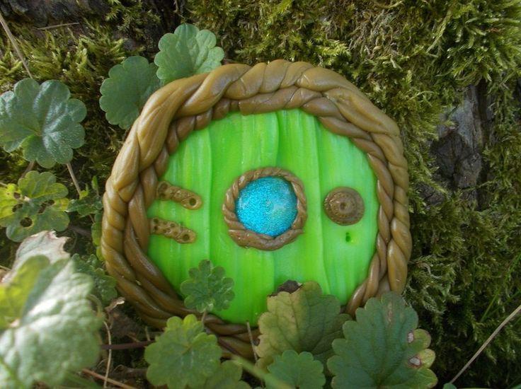 Feentür wetterfest Fairy Door HObbit Elfe Ranken Garten Deko Feen Tür Balkon