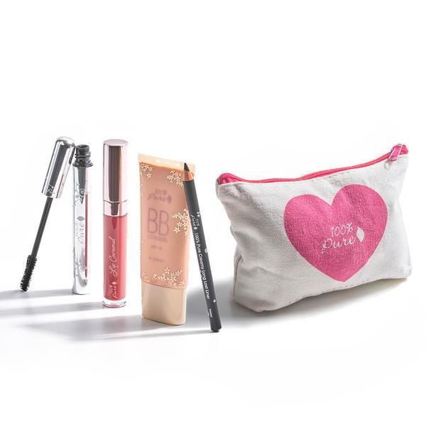 {Sept 2016 GWP}  Order $69 or more get a deluxe 5-piece beauty gift set ($119 Value) FREE!  It includes Lip Carmel: Truffle -$25.00 Blackest Pencil Eyeliner -$25.00 Black Tea Regular Mascara- $25.00 BB Cream – your choice shade of 10, 20 or 30 -$39.00  Adorable 100% Pure makeup bag -$5.00 Starts September 22nd Expires 30th