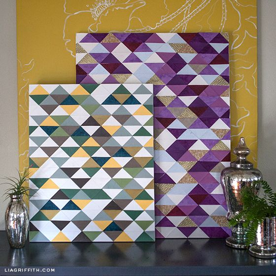 Make a Modern Piece of Art with Paper Triangles