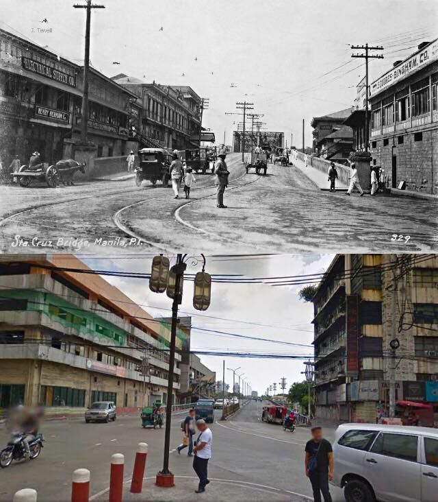 Santa Cruz Bridge Location Sta Cruz Cor Plaza Lacson Manila Philippines Wayback 1920 S In December 19 Philippines Filipino Architecture Manila Philippines