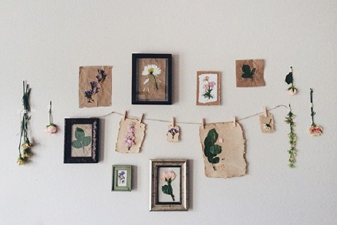 Pressed Flower Prints - We compiled a list of 39 other DIY pressed flower ideas for you to make   Coolcrafts.com
