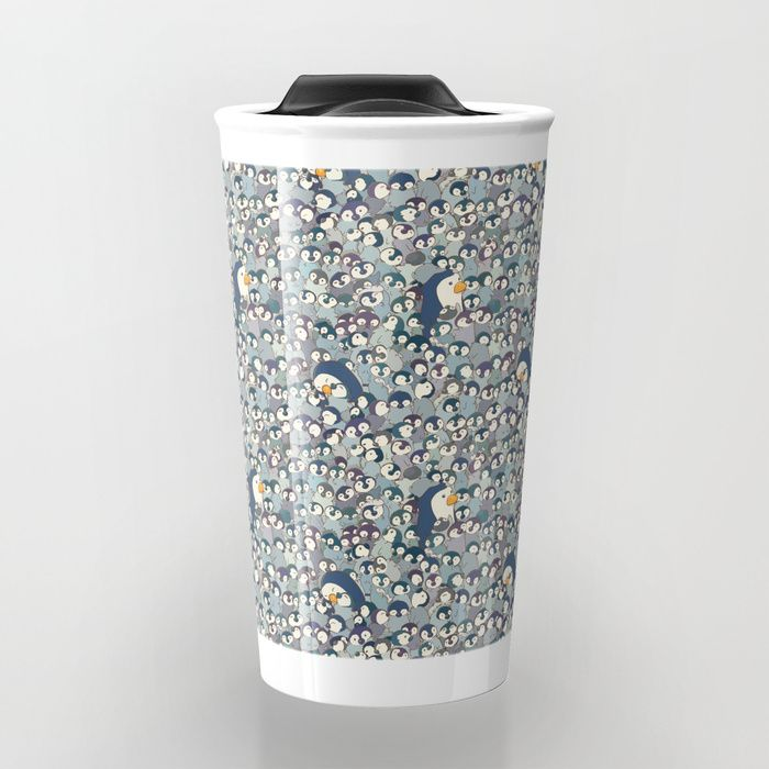 Buy Baby Penguin Pattern Travel Mug by strijkdesign. Worldwide shipping available at Society6.com. Just one of millions of high quality products available.