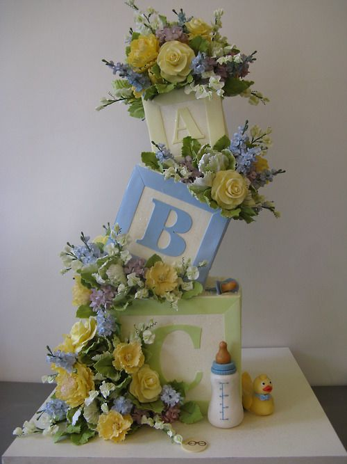 It's a boy! Baby Shower Cake by Sylvia Weinstock.....Amazing!