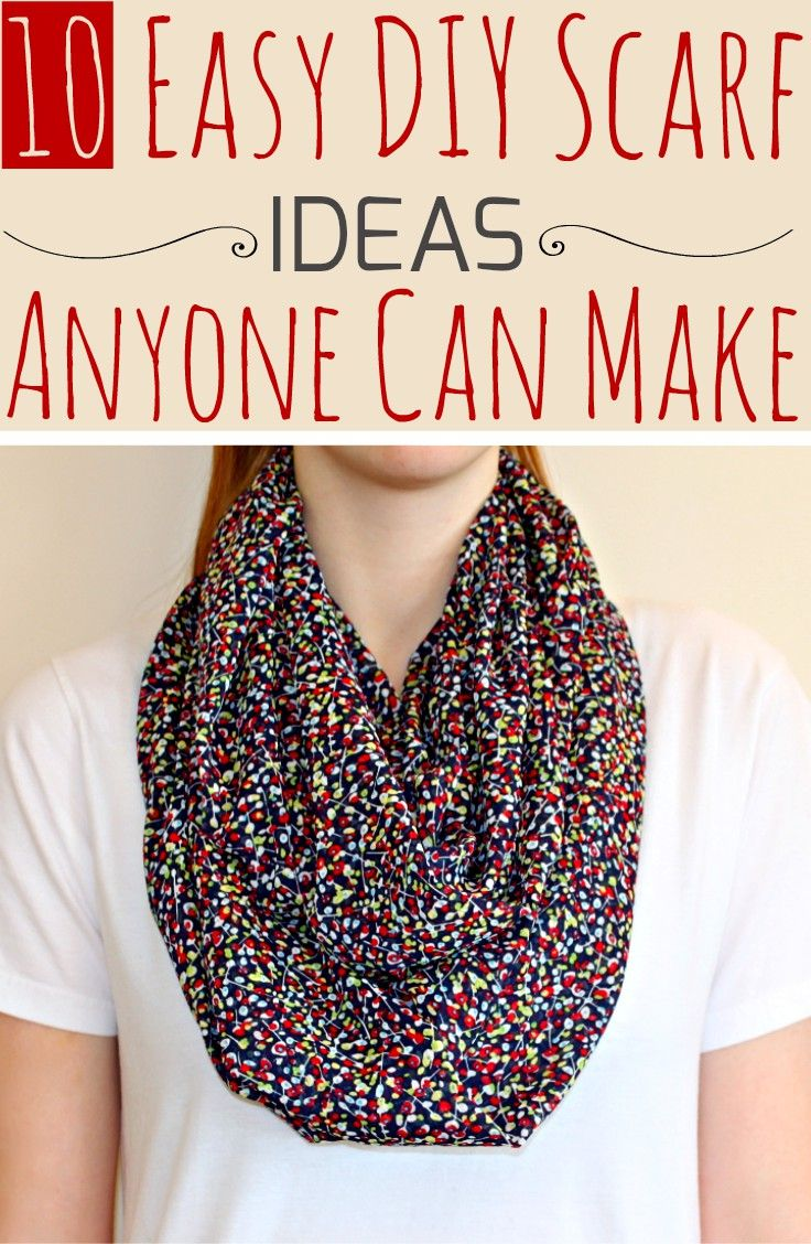 10 Easy DIY Scarf Ideas Anyone Can Make