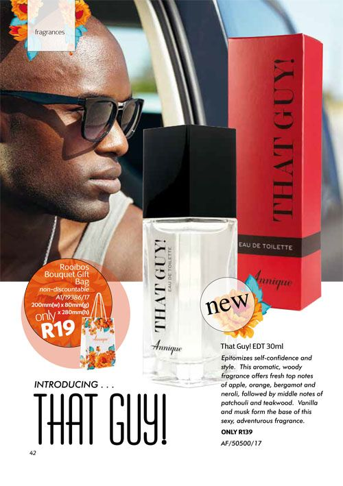 Annique September 2017 Beauté That Guy EDT for him Purchase any of these months awesome #Annique #Specials from our online store AND earn rewards while you're there. #rooibosmiracle  https://rooibos-miracle.co.za/store/