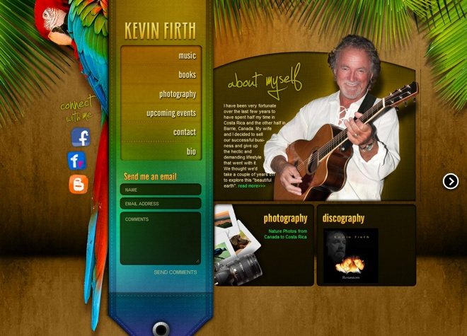 Kevin Firth website designed by Fusion Studios Inc.