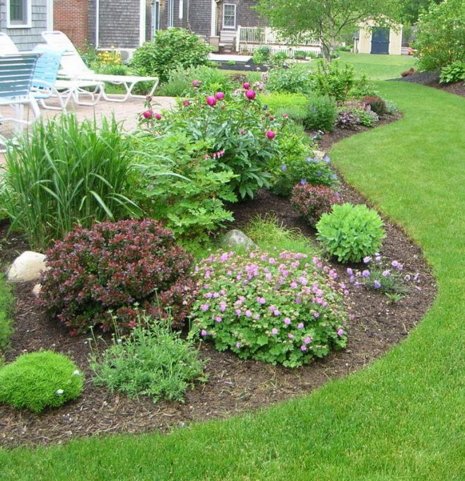 Simple Patio With Perennials, My Husband Built This Raised Patio About Six  Years Ago,