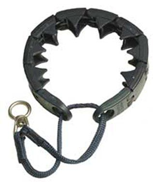 I have this choke collar for our dog, and love it!  It does not hurt him at all.  $9.77-$12.99 StarMark Training Collar, Large, Blue - Training collar for dogs with patented humane design. http://www.amazon.com/dp/B000A6BD5K/?tag=pin2pet-20