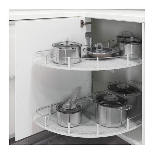 UTRUSTA Acc extraíble de armario esquina  -Ancho: 102 cm Estructura, ancho: 127.5 cm fondo: 51 cm Grosor de la balda: 1.2 cm Altura: 65.6 cm Peso máximo/balda: 15 kg
