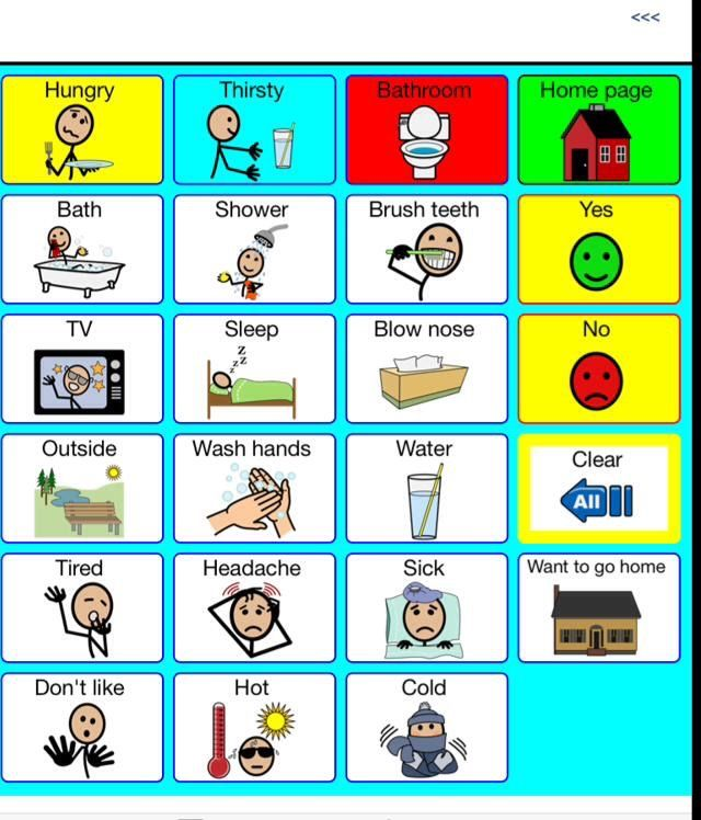 Basic Needs Requests Aac Topic Based Autism Learning