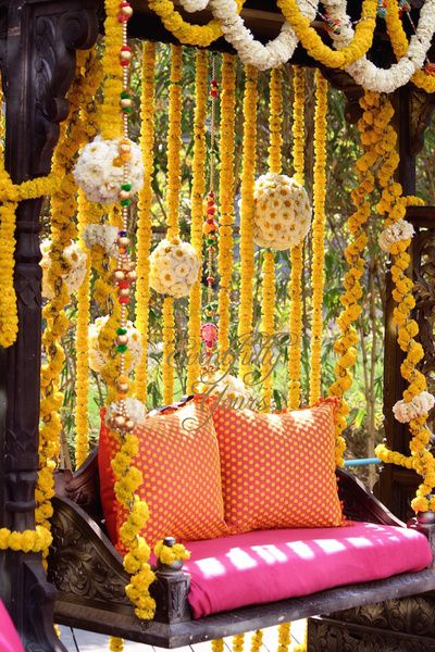 Swing for mehendi , mehendi decor