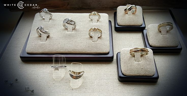 Our bridal section is expanding! We have a beautiful assortment of custom made engagement rings and bands ready to be slipped on a finger! Or design your own right here in the studio. We will help you every step of the way from creating the pefect setting that reflects her style to choosing a brilliant diamond that fits your budget and will sparkle for a lifetime.