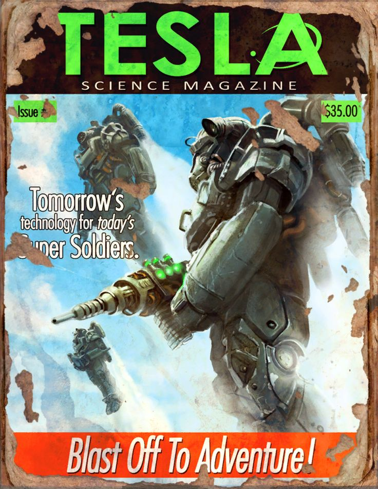 Tesla #4 Book - Fallout 4 by PlanK-69 on @DeviantArt