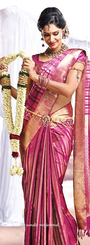 PSR silk saree - South Indian bridal attire