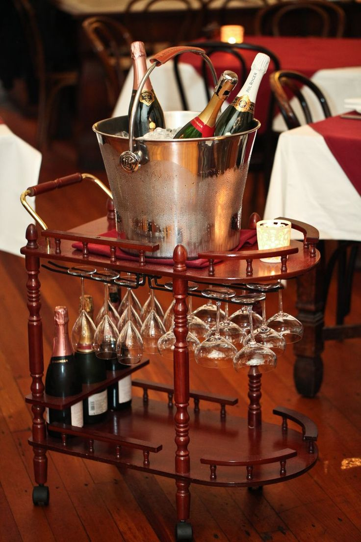 The iconic Champagne Trolley!