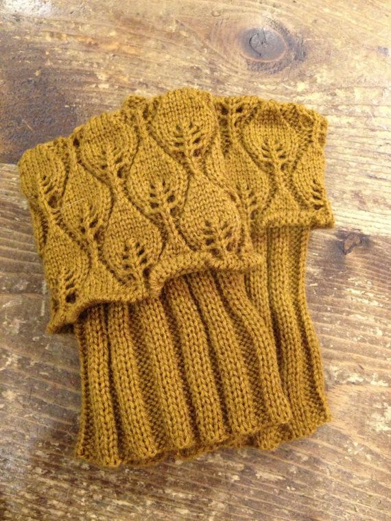 Free Knitting Patterns For Boot Toppers : Free Boot Cuff Knit Pattern Lace knit leaf pattern boot toppers/boot cuff! ...